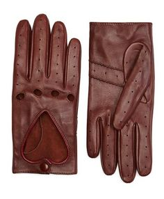 Leather Heart Driving Gloves - Brooks Brothers
