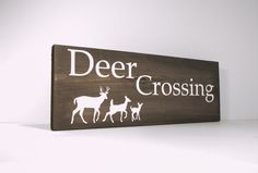 Hey, I found this really awesome Etsy listing at https://www.etsy.com/listing/166302540/rustic-wood-sign-deer-crossing-deer