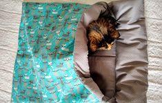 Saco de dormir para gatinhos no Elo7 | Paula Guima (A05FC6) Blanket, Pet Beds, Cute Kittens, Sleeping Bags, Sacks, Blankets, Cover, Comforters