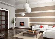 Living Room Square Cream Sectioanl Fur Rug  White Leather Modern Sofa Set  Block Board Covered Fireplace  Wooden Varnished Full Area Floor  Luxurious Clean Fresh Living Room Design  Wood Varnish Living Room Table 20 Modern Living Room With Style Inspiration