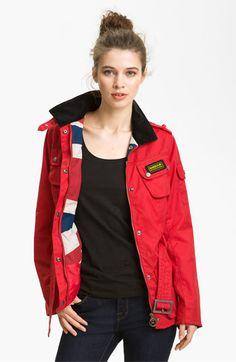 Barbour 'Union Jack International' Waxed Cotton Jacket | Nordstrom