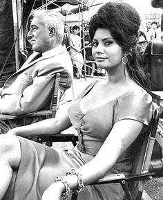 Sophia Loren, looking very proud of herself