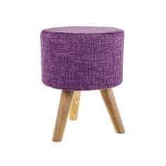 KNITTED Knitted Pouf, Round Stool, Cotton Pads, Solid Pine, Fabric Sofa, Foot Rest, Seat Cushions, Accent Decor, Ottoman