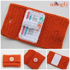 The Nifty Crochet Needle Case keeps your yarn and tapestry needles in one place.