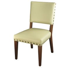 "Blake Dining Chair  Bycast/Brass  20"" W x 25"" D x 36"" H  Finish/Color(s): Ivory"