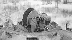 A Tiger from the Leibstandarte Division fires its main gun near Petrivka, Ukraine, March 1944.
