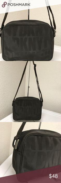 DKNY brown Nylon Crossbody bag Excellent! Dkny Bags Crossbody Bags