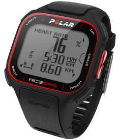 Polar RC3 GPS Sports Watch.  Slim Integrated GPS with Heart Rate Monitoring.For recreational runners and cyclists who want integrated GPS with smart guidance.