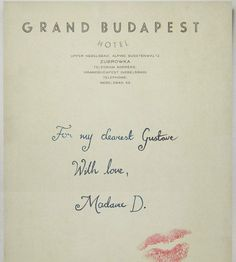 The Grand Budapest Hotel (2014).