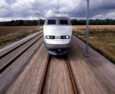 Head on with a French SNCF TGV.
