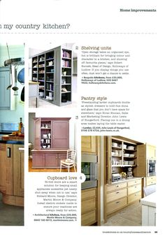 Bi-Fold doors are a smart solution for keeping small appliances accessible yet neatly shut away when not in use.. featuring Martin Moore's Architectural kitchen collection. http://martinmoore.com Country Homes & Interiors November 2013