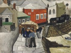 'The Red Cottage, Mousehole, Cornwall' by Christopher Wood, 1928
