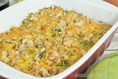 Cheddar Chicken and Broccoli Casserole - Low Carb & Gluten-free, an easy keto recipe for dinner any night!