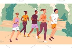 People Running, Young Man, Jogging, Family Guy, Illustrations, Guys, Outdoor, Fictional Characters, Women