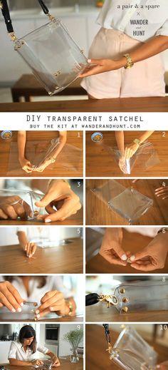 transpar satchel, balls, diy transparent, satchel diy, hunt