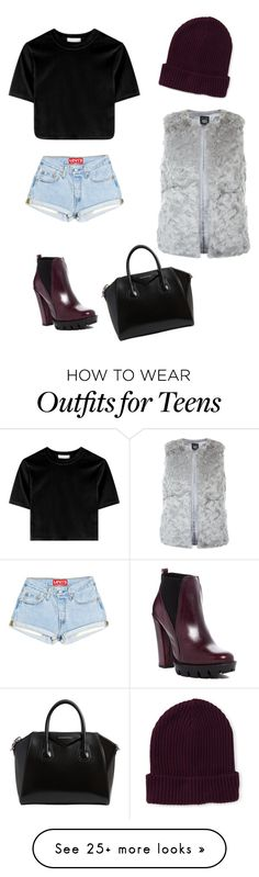 """""""Untitled #615"""" by iluvcarterrenyolds on Polyvore featuring Aéropostale, Charles David, New Look and Givenchy"""