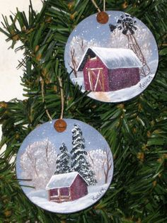 Image result for painting wood slices