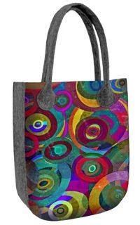 Filcová kabelka City Orbit Reusable Tote Bags, Etsy, Grad, Design, Tote Bag, Textiles, Handbags