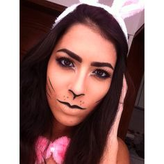 Easter bunny makeup.                                                                                                                                                                                 More