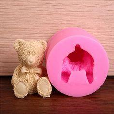 Lovely 3D Teddy Bear Silicone Mold Fondant Chocolate Soap…