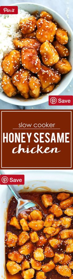 Slow Cooker Honey Sesame Chicken  3 hrs to make serves 4 - Ingredients  Gluten free  Meat  3 Chicken breasts medium large boneless skinless  Produce  2 tsp Garlic  Condiments  6 tbsp Honey  2 tbsp Ketchup  3/8 cup Soy sauce low sodium  Baking & Spices  1/3 cup Corn starch  1 Sesame seeds  Oils & Vinegars  2 tbsp Oil  1 tbsp Rice vinegar  2 tsp Sesame oil  Liquids   cup Water