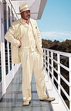STACY ADAMS® PIN STRIPE VESTED SUIT