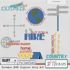 November BAK: Explorer Word Art by B2N2 Scraps