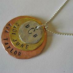 Personalized Triple Disc Necklace by Hattie Rex | Hatch.co