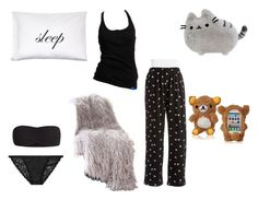 Bed Time by dixietough on Polyvore featuring polyvore fashion style adidas Hue Victoria's Secret Best Home Fashion Kiki de Montparnasse Pusheen clothing