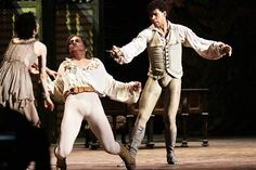 Cuba's Carlos Acosta and Tamara Rojo of the Royal Ballet during the performance of 'Manon' in the Karl Marx theatre on July 17 in Havana Cuba With...