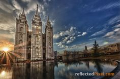 """""""Reflecting the Son"""" Salt Lake Utah LDS Temple http://reflectedpixel.zenfolio.com/ldstempleart/e31508d5d Mormon"""