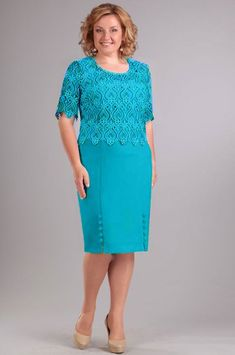 Diamond dress, turquoise (model - Belarusian knitwear in the Mirtrik online store - 989 turquoise diamond - Mother Of Bride Outfits, Mother Of Groom Dresses, Mothers Dresses, Mob Dresses, Women's Fashion Dresses, Dress Outfits, African Attire, Pretty Dresses, Designer Dresses