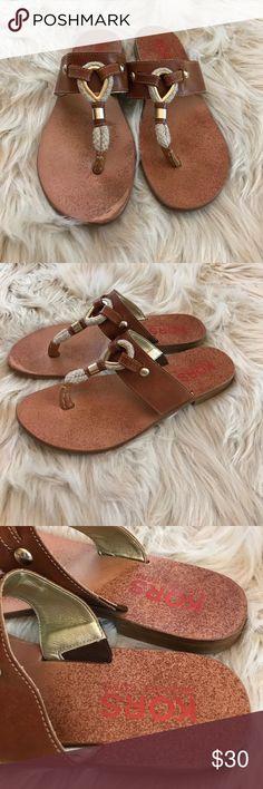 Michael Kors Leather Sandals Size 9M Great condition Kors Michael Kors size 9M sandals KORS Michael Kors Shoes Sandals