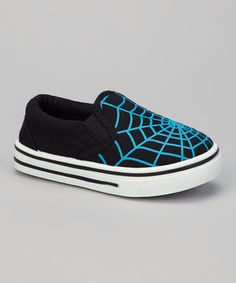 Cool kicks! With a slip-on silhouette and awesome spiderweb graphic, they're destined to become any stylin' guy's favorite playground partner.