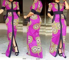 Long dress / African women dress, Traditional wedding dress, African women clothing, Ankara dress, African Prom dress - Brenda O. Latest African Fashion Dresses, African Dresses For Women, African Print Fashion, African Attire, African Women, Africa Fashion, Ankara Dress, African Lace, Kaftan