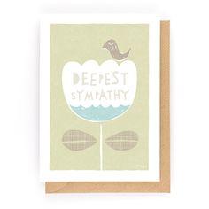 DEEPEST SYMPATHY - Greeting Card www.freya-art.com