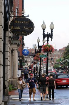 U.S. Harvard Square, Cambridge, MA  I could seriously live in that bookstore. Love that they had library ladders.