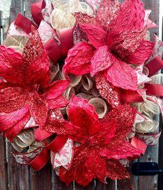 Christmas Wreaths To Make, How To Make Wreaths, Christmas Fun, Christmas Decorations, Xmas, Tulle Wreath, Mesh Wreaths, Seasonal Decor, Holiday Decor