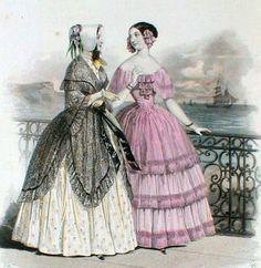 Fashions from the Moniteur de la Mode 1850-55