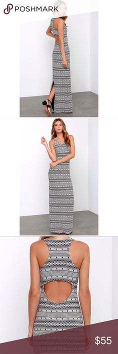 Jack by BB Dakota Tribal Printed Maxi Dress NWOT Jack by BB Dakota Tribal Printed Maxi Dress. Super figure flattering with a side slot and a cute cutout in the back. Jack by BB Dakota Dresses Maxi
