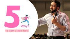5 ways learn arabic fast I Nouman Ali Khan I 2019 Surah Al Qadr, Al Asr, Nouman Ali Khan, Quran Recitation, Be Exalted, Learning Arabic, Holy Quran, 5 Ways, Gods Love