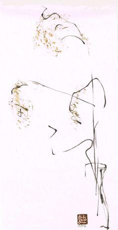 Lilith Ohan Sumi-e, Pencil Drawings Blog