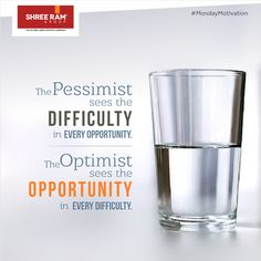 So, is the glass half empty? Or half full? #MondayMotivation