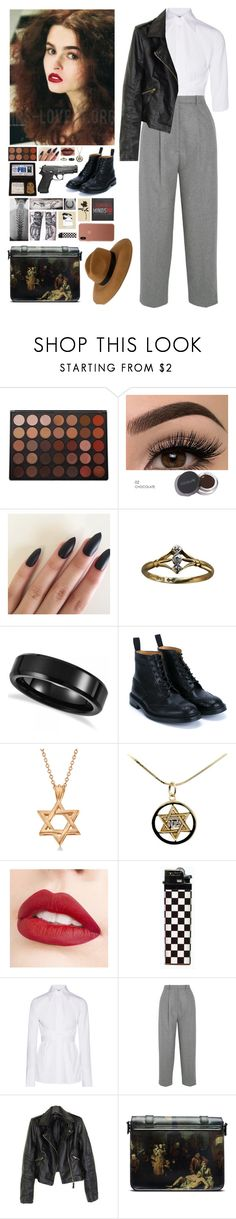"""Criminal Minds OC: Talia Lansky"" by mermer1324 ❤ liked on Polyvore featuring Morphe, Allurez, Tricker's, Jouer, Trevco, Helmut Lang, Acne Studios, Dr. Martens and French Connection"