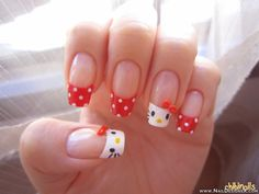 Hello kitty 2 nail art