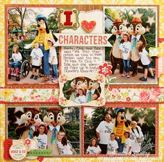 I Love Characters - Scrapbook.com - Made with Crate Paper supplies.