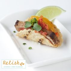 Tuna Taco by Relish Caterers + Event Planning- http://www.relishcaterers.com/