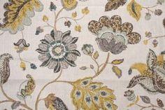 Fabric by the Yard :: Robert Allen Spring Mix Printed Linen Blend Drapery Fabric in Aloe $16.95 per yard - Fabric Guru.com: Fabric, Discount...