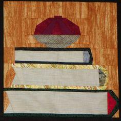 bookshelf quilt block