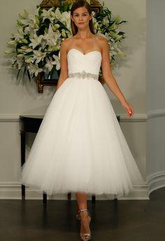 Waltz-Length A-Line Wedding Dress | Romona Kaveza LEGENDS Fall 2015 | blog.theknot.com